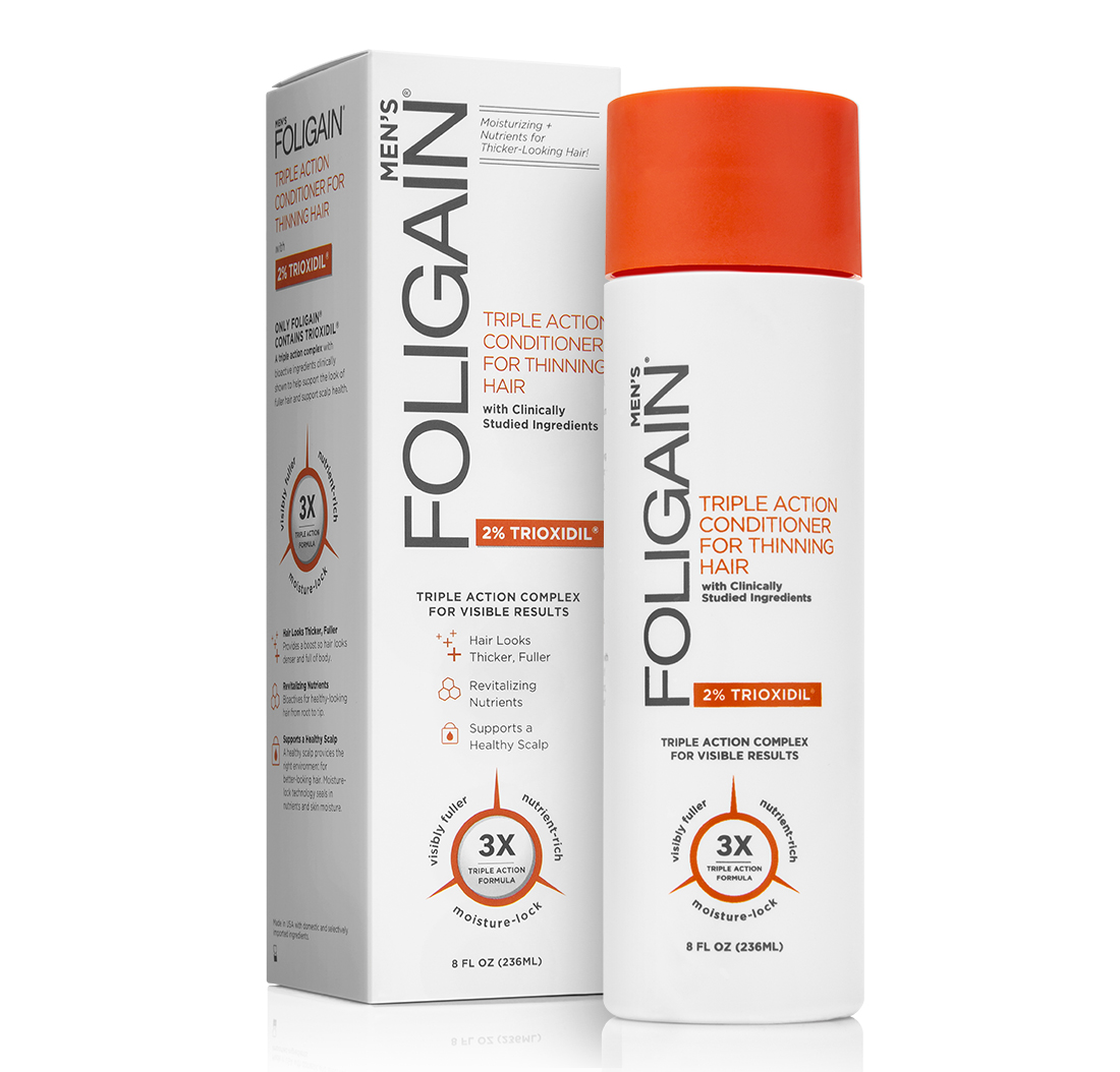 FOLIGAIN HAIR REGROWTH CONDITIONER For Men with 2% Trioxidil® (8oz) 236ml | Foligain