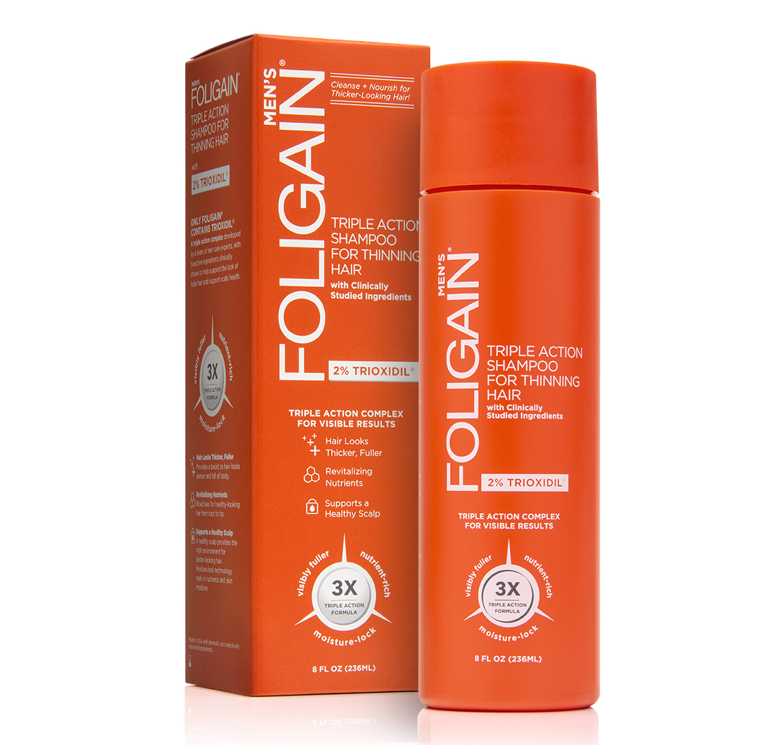 FOLIGAIN HAIR REGROWTH SHAMPOO For Men with 2% Trioxidil® (8oz) 236ml | FOLIGAIN