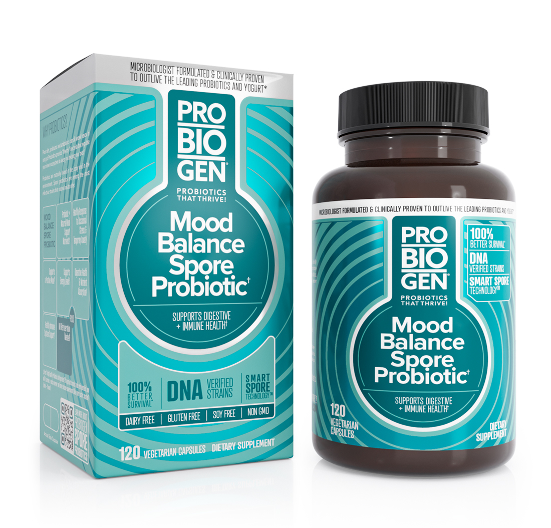 PROBIOGEN STRESS & MOOD BALANCE PROBIOTIC with Smart Spore Technology 120 Capsules